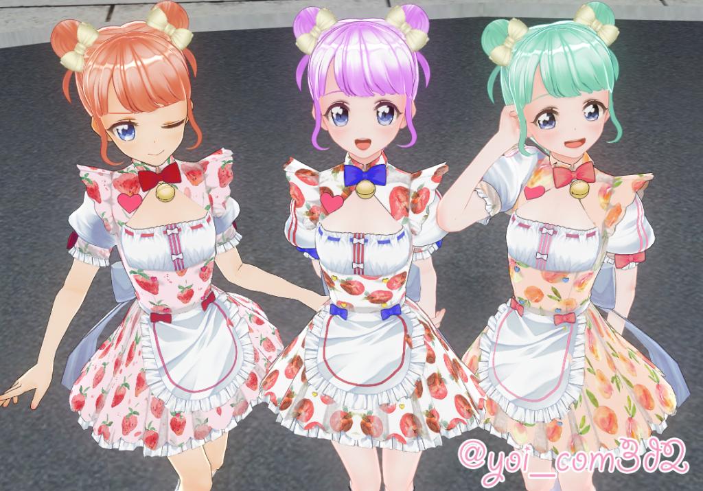 COM3D2】ネコぱら・ショコラメイドフルーツ柄mod - fluffmore